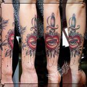 sztylet serce tatuaż
