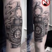 Krzyż AK tatuaż patriotyczny..anty islam