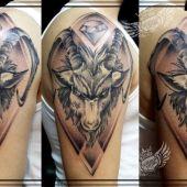 koziorożec capricorn goat tattoo
