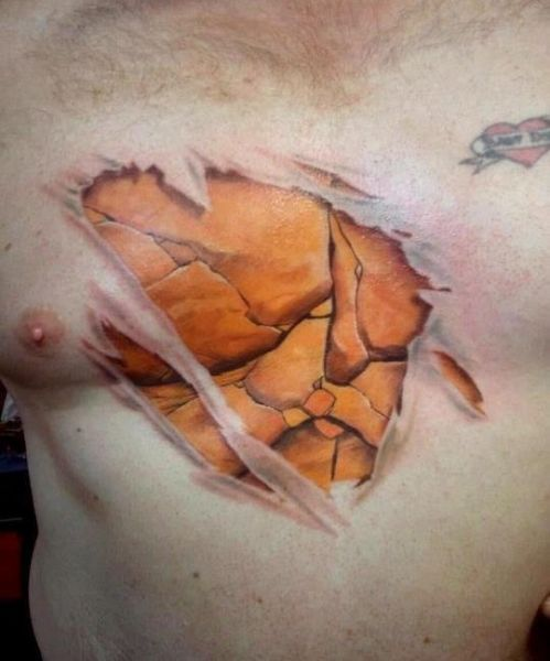chest tattoo 3d