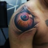 shoulder eye tattoo 3D