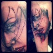tatuaż wampirzycy