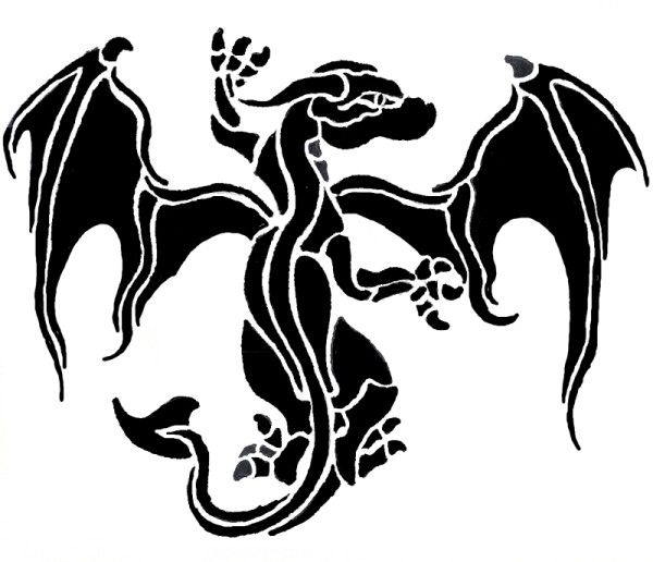 tatuaż mok ze skrzydłami