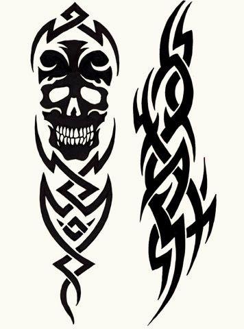 Tatuaż Czaszka W Tribalu