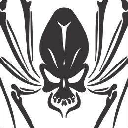 tatuaż czaszka pająka
