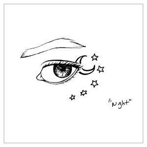 tatuaż oko z gwiazdkami