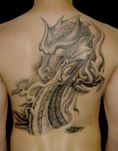 tatuaż głowa smoka
