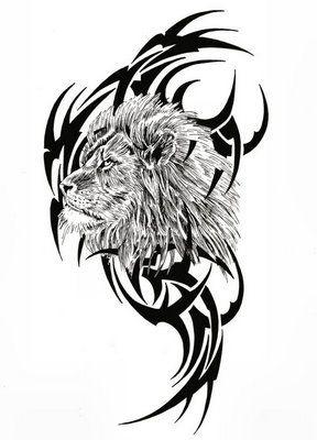 tribal i głowa lwa