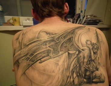 Tatuaż Upadły Anioł