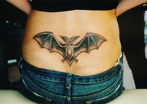lower back tattoo bat