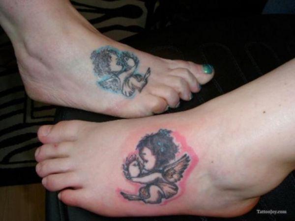 Tatuaże Na Stopie Aniołki