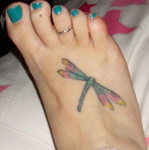 Tatuaże Na Stopie Ważka