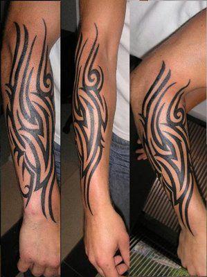 tatuaże na ręce tribal