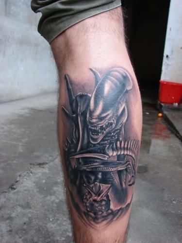 alien tattoo 3D