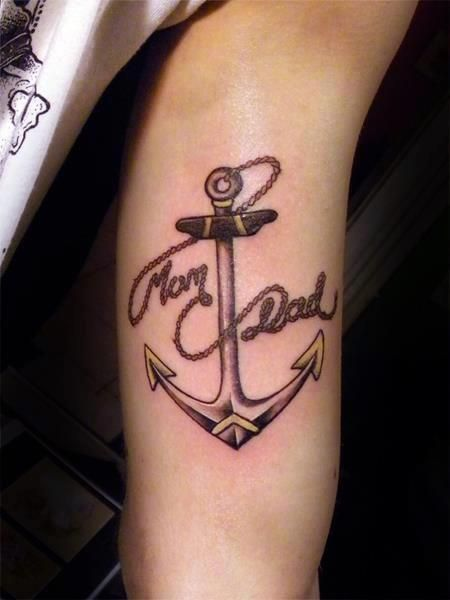 tatuaż kotwica na ręce