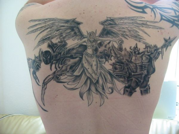 dark angel back tattoo