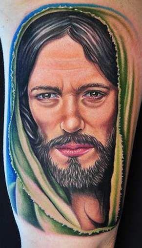 tatuaż Chrystusa