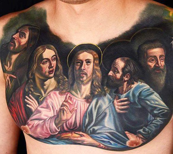 tatuaż ostatnia wieczerza