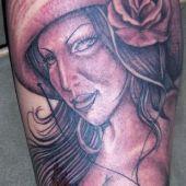 tatuaż, meksykańska dziewczyna na nodz