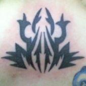 tatuaż, tribal żaba