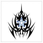 tatuaż tribal z gwiazdą