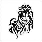 tribal twarz kobiety tatuaż