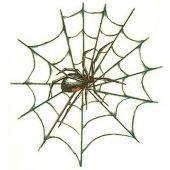 tatuaż pająk na pajęczynie