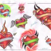 tatuaże miłosne serca