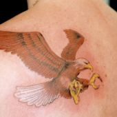 orzeł tatuaż na plecach