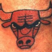 chicago bull tattoo