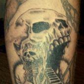 Czaszka - demon tatuaż