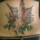 lower back tattoo fairy