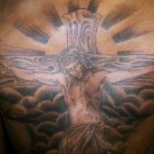 Jesus Piece Chest Tattoo
