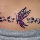 lower back tattoo butterfly 1