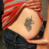 Unicorn Tattoo On Waist