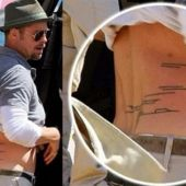 lower back tattoo brad pitt