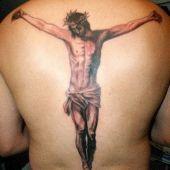 tatuaże na plecach Jezus Chrystus