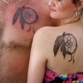 Dreamcatcher tattoo back and chest