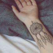Dreamcatcher hand tattoo