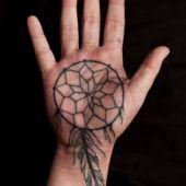 Dreamcatcher tattoo hand