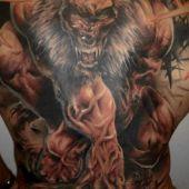 back tattoo werewolf