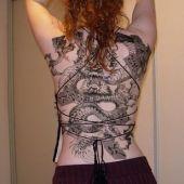 back tattoo dragon woman