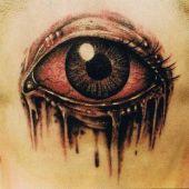 tatuaże 3D oko na głowie