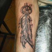 tatuaże 3D na ręce dreamcatcher
