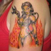 devil girl tattoo