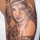 Warrior Girl Tattoo