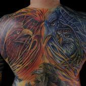 full back tattoo eagles
