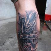 alien tattoo 3D