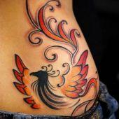 lower back tattoo phoenix