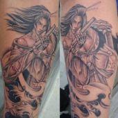 tatuaż wojowniczki